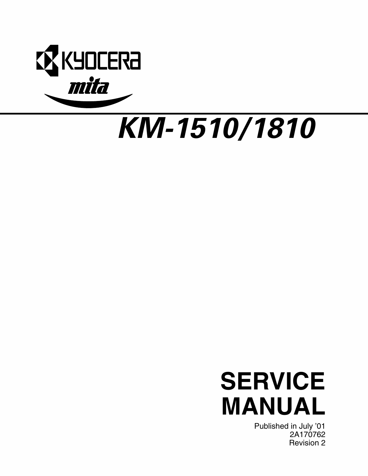 KYOCERA Copier KM-1510 1810 Parts and Service Manual-1